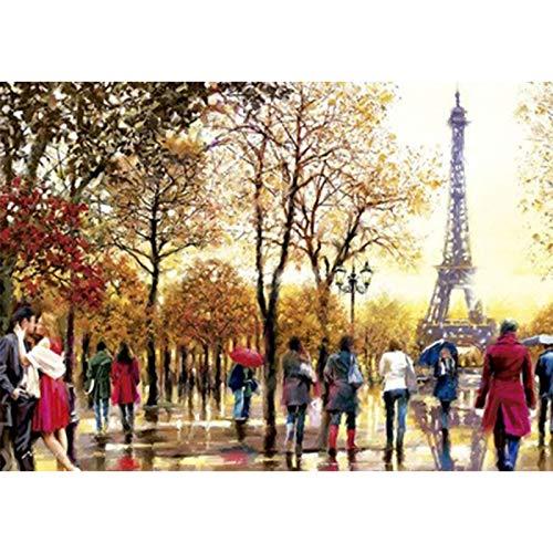 Puzzle The Lovers Under The Eiffel Tower Supergrande De 300 Piezas 68 * 48cm