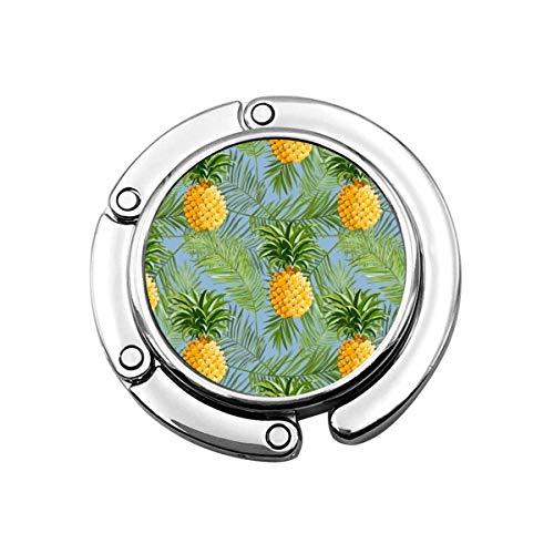 Gancio per borsa Simpatico gattino con stampa di ananas fresco Borsa per borsa Tavolo Scrivania Ganci per borse da scrivania - Supporto per ganci