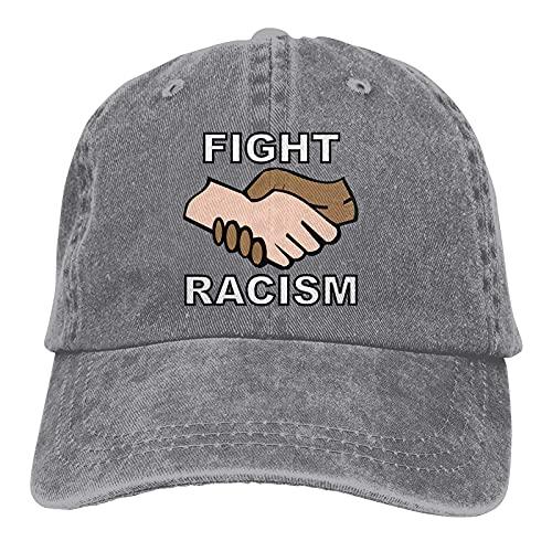 AOOEDM Gorra de béisbol de lucha contra el racismo con diseño de camionero ajustable y antirracista, gris