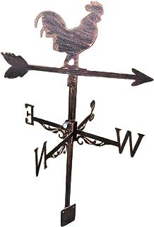 Weathervane with Animal Ornament, Wind Direction Indicator Kit Outdoor Bracket Weathervane for Garden Farm Yard Barn Measu...