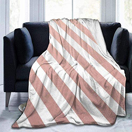 AEMAPE Patrón de líneas diagonales Brillantes de Oro Rosa, Moda de Invierno, Manta cálida y cómoda, 127X102CM