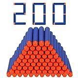 Vientiane Dardos Espuma Recarga, 400 Dardos Bala Recarga, para La Serie Nerf N-Strike Elite, Paquete Munición Dardos Espuma para Pistolas Juguete Blasters, Dardos Espuma Repuesto, Azul