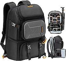 """TARION Plecak na aparat, wodoodporna torba na aparat z przegrodą na laptopa 15"""", profesjonalny plecak fotograficzny o..."""