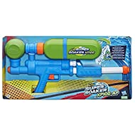 AIR-PRESSURISED CONTINUOUS BLAST: Pump to pressurise the chamber with air, then pull the trigger for a continuous, air-pressurised blast of water from the Nerf Super Soaker XP100 water blaster RETRO DESIGN AND COLOURS: Brings back the pressurised mec...