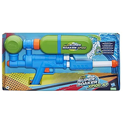 Hasbro E62855L0 Nerf Super Soaker XP100 Wasserblaster – Wasser-Action mit Druckluft – abnehmbarer Tank – für Kinder, Teenager, Erwachsene