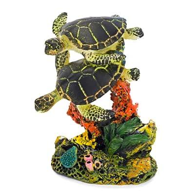 Penn Plax Swimming Sea Turtle Aquarium Decor, Small