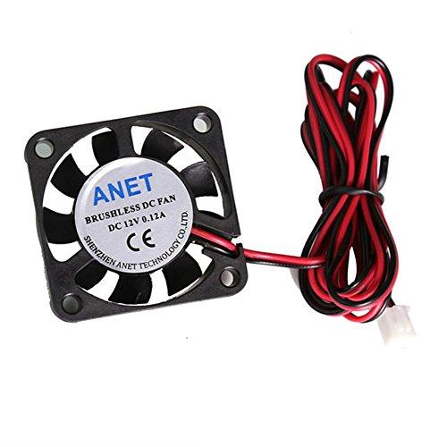 Koelventilator voor 3D-printer, 12 V 0,12 A Mini stille koelventilator met 100 cm kabel voor 3D-printer, DVR en andere kleine apparaten serie reparatie vervanging