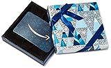 Carte-cadeau Amazon.ca pour n'importe quelle quantité dans une boîte bleue et argentée.