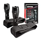2 LED Flashlights with 2 Holsters,COSOOS Bright Tactical Flashlight 1000 Lumen &...