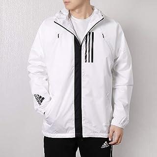adidas 阿迪达斯男装上衣 春季 运动外套休闲透气连帽防风时尚跑步夹克