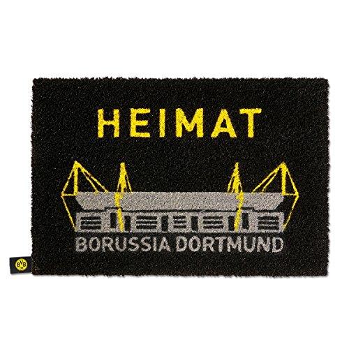 BVB 09 Borussia Dortmund Fußmatte (schwarz, one size)