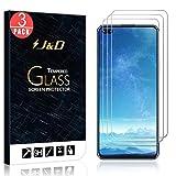 J&D Compatible para Huawei Honor V30/Huawei Honor V30 Pro Protector de Pantalla, 3 Paquetes [Vidrio Templado] [NO Cobertura Completa] Cristal Templado Protector de Pantalla para Huawei Honor V30