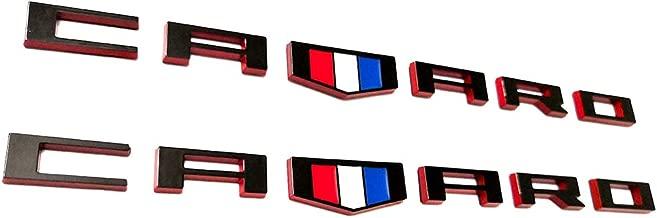 2pcs CAMARO Emblems Badges 3D Letter Compatible with Camaro RS SS ZL1 Z28 Chevy Redline style
