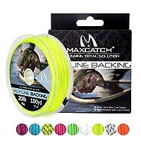 M MAXIMUMCATCH Maxcatchバッキングライン フライフィッシング用100yard(約90m) 20/30lb セットボックス持って(ホワイト、イエロー、オレンジ、ブラック&ホワイト、ブラック&イエロー) (イエロー, 30lb)