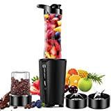 Bullet Blender for Kitchen Smoothie Blender Shake Maker of Milkshake, Protein Shake, Crushes Ice, Fruit &Vege, with 20 oz Portable Travel Cup& 6oz Coffee Grinder Bottle, BPA FREE 300w
