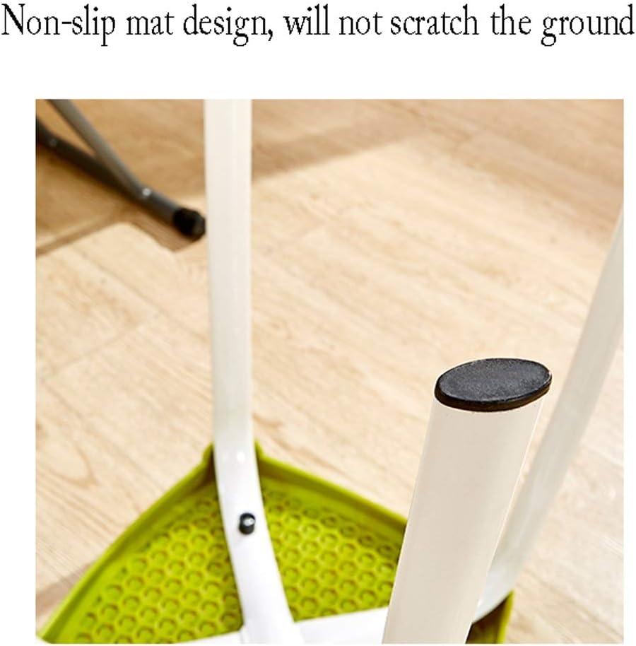 Tabouret SLL en plastique épais adulte chaise de salle à manger restaurant table banc de mode créative bureau ordinateur chaise moderne minimaliste chaises (couleur : vert) Noir