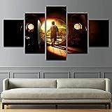 HUANGXLL Pintura en Lienzo Moderna Decoración para el hogar Arte de la Pared 5 Paneles Carteles de películas abstractas modulares Imágenes Sala de estar-30x40cm 30x60cm 30x80cm Sin Marco