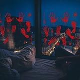 Etiquetas engomadas de la ventana de Halloween, Calcomanías de piso de ventana con pegamento gratis, pegatinas electrostáticas, linda y divertida fiesta de dibujos animados, decoraciones de ventana de