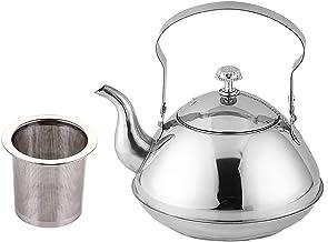 Theepot, (1/1.5/2L) dikker roestvrijstalen koffiepot theepot set, met Infuser filter, voor restaurants, conferentieruimte...