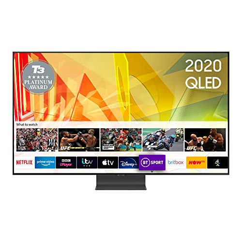 """Samsung 2020 65"""" Q95T Flagship QLED 4K HDR 2000 Smart TV with Tizen OS CARBON SILVER"""