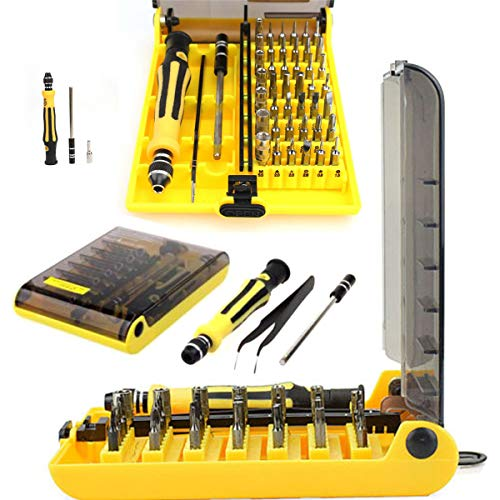 HpyAlwys 45st in 1 Precisie Hex Torx Star Mini Schroevendraaier Set Bits RC Reparatie Tool Kit