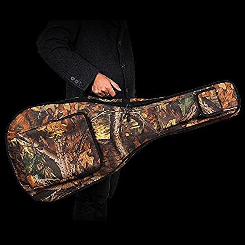 ParaCity Gitarrentasche, gepolstert, wasserdicht, aus Kunstleder, geeignet für Akustikgitarren mit einer Länge von 99 bis 104 cm Handtasche Style B