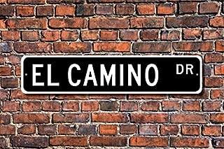 Fhdang Decor El Camino, Chevrolet El Camino Sign, Chevrolet El Camino Gift, Chevy El Camino Owner, Classic Truck, Custom Street Sign,Metal Sign, 4
