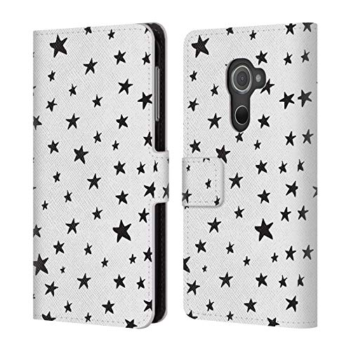 Head Case Designs Offizielle The Native State Sternen Doodles Leder Brieftaschen Huelle kompatibel mit BlackBerry DTEK60