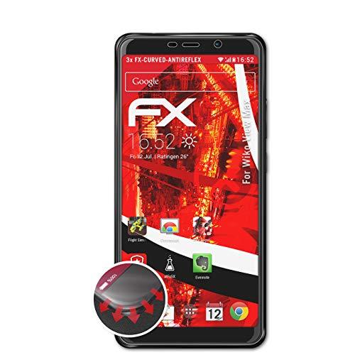 atFolix Schutzfolie kompatibel mit Wiko View Max Folie, entspiegelnde & Flexible FX Bildschirmschutzfolie (3X)