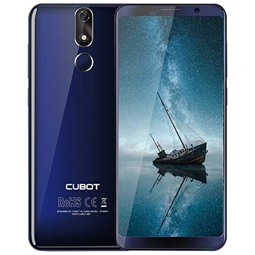 CUBOT POWER Smartphone 5.99 Pollici FHD, 2168 * 1080px, 128GB ROM 6GB RAM, 6000mAh, Android 8.1, Fotocmara 20 MP+ 13MP, Dual Sim, GPS, 4G Cellulare Blu