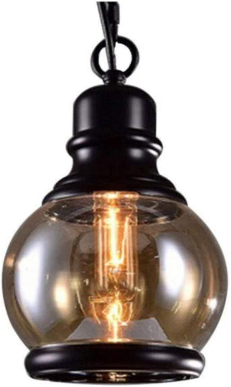 Lampes suspendues en verre de fer Bar à vent industriel Restaurant Bar européen Taipei
