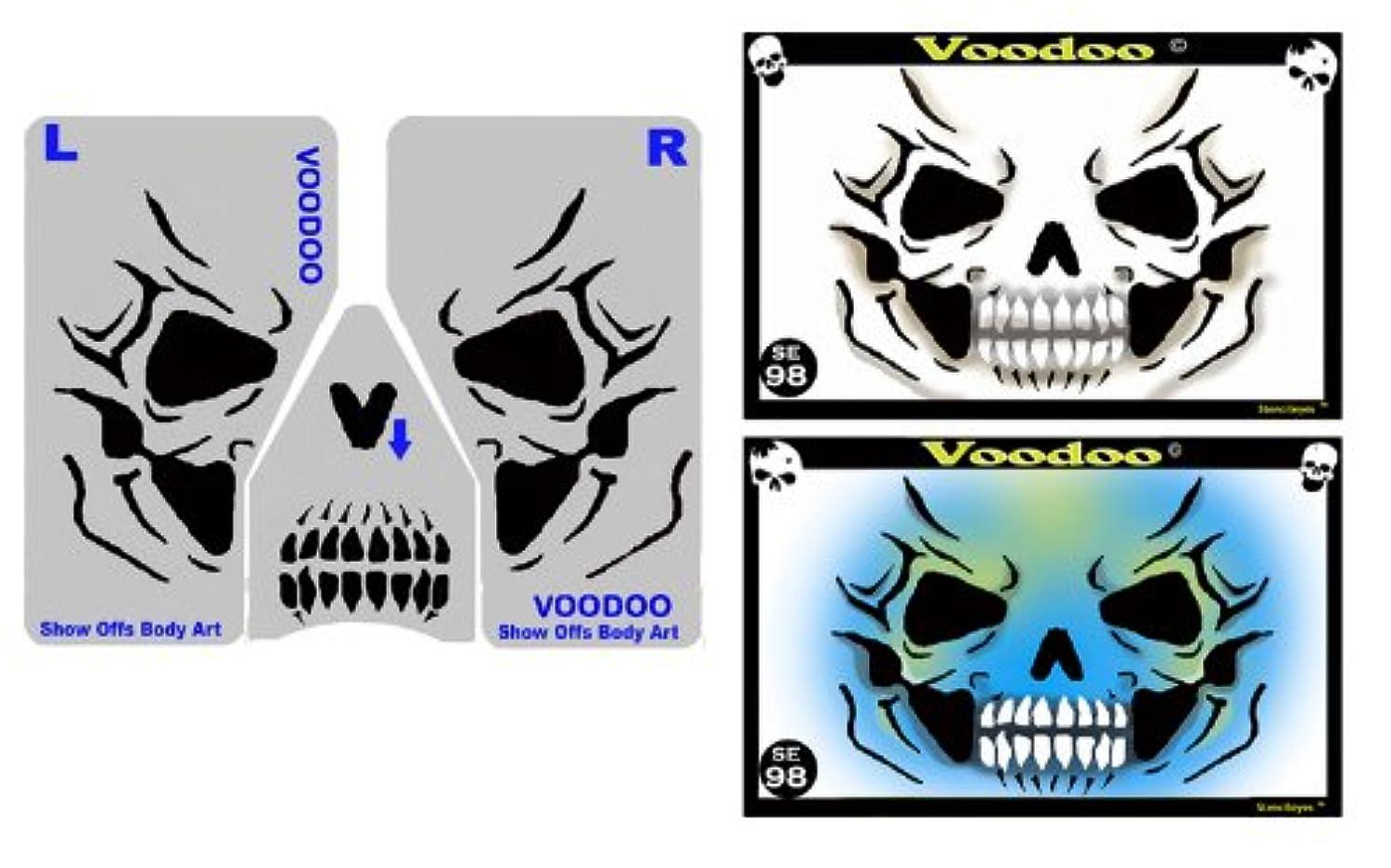 Face Painting Stencil - Stencileyes Voodoo - Skull Face