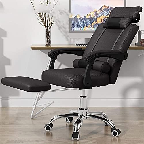 Sillas de juego, silla de ordenador para el hogar, respaldo, para estudiantes, para juegos, cómoda silla sedentaria, silla ergonómica de oficina (color: rojo 1)