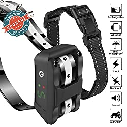 Dog Bark Collar [Newest 2019] Anti Bark Collar-5 Adjustable Sensitivity and Intensity Levels-Dual Anti Barking Modes-Rechargeable/Waterproof/NO Hurt/Humane Bark Collar for Small Medium Large Dog