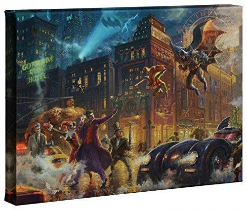 Thomas Kinkade Studios Dark Knight Saves Gotham City 10 x 14 Gallery Wrapped Canvas