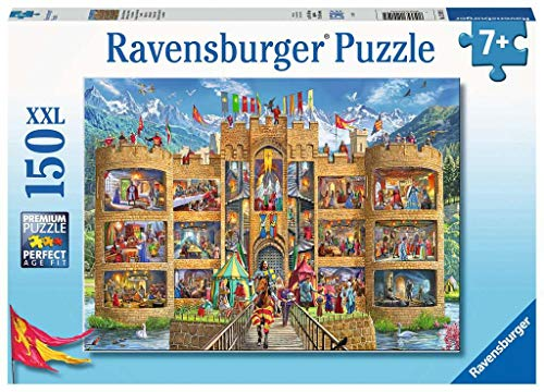 Ravensburger Kinderpuzzle 12919 12919-Blick in die Ritterburg-150 Teile, Yellow