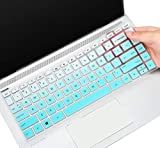 Keyboard Cover Skin for 2019 2018 HP 14 inch Keyboard Cover for HP Pavilion x360 14M-BA 14M-CD 14-BF 14-BW 14-cm 14-CF Series 14' Laptop Keyboard Cover Protector, Ombre Mint (with Squared Keypad)