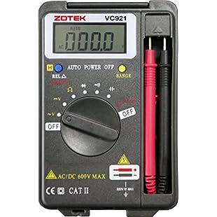 Digital Multimeter Auto Ranging Pocket Digital Multimeter Digital Multi Tester - AC DC Voltage DC Current Resistance Diodes Capacitance Transistor Backlit LCD Measuring Instrument by small fish (VC921)