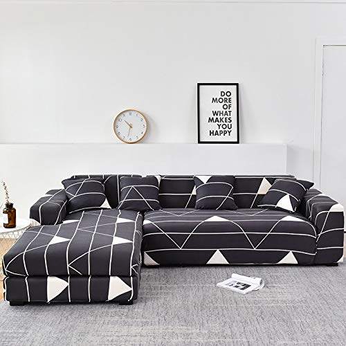 WXQY Funda de sofá Familiar, se Puede Utilizar para Chaise Longue de Esquina en Forma de L, Funda de sofá elástica, Funda de sofá elástica para Sala de Estar A19 1 Plaza
