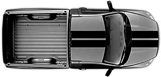 Clausen's World 10 Inch Double Center Rally Racing Stripes Carbon Fiber Vinyl, Fits Dodge Ram Pickup Truck, Black