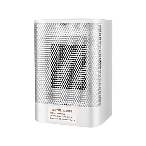 BOEYAA Calefactor de escritorio, mini calefactor de enchufe, velocidad de calefacción, oficina, hogar, pequeño ventilador eléctrico