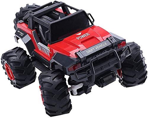 Wghz 1/14 RC Coche de Escalada, Big Foot Simulación Buggy de Control Remoto eléctrico 2.4GHz Juguete para niños Luz LED 4WD Fuerte Potencia Vehículos Todoterreno controlados por Radio Ocio y entr