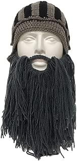 PinShang Beard Facemask, Beard Knight Hat Helmet Design, Hat Handmade Knit, Winter Warm Cap, Men Women Cool Funny Party