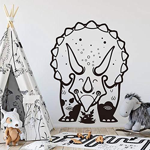 Dibujos animados Triceratops dinosaurio arte calcomanía pared pegatina habitación de niño habitación de niños parque grande dinosaurio Animal dormitorio vinilo Mural decoración del hogar