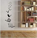 Tatuajes De Pared De Vinilo Libro Abierto Lectura Biblioteca Escolar Aula Estudio Dormitorio Decoración Del Hogar Arte Etiqueta De La Pared 42X108Cm