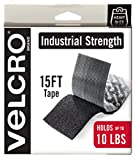 VELCRO Brand Heavy Duty Tape with Adhesive | 15 Ft x 2 In | Holds 10 lbs, Black | Industri...