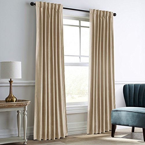 """Dreaming Casa Darkening Velvet Curtains for Living Room Thermal Insulated Rod Pocket Back Tab Window Curtain for Bedroom 2 Panels 52"""" W x 108"""" L"""