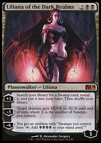 Magic The Gathering - Liliana of The Dark Realms (102/249) - Magic 2014