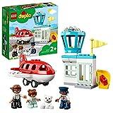 LEGO DUPLO Town Aereo e Aeroporto Giocattolo per Bambini di 2 Anni con 3 Minifigure, Aeroplano e Torre di Controllo, 10961