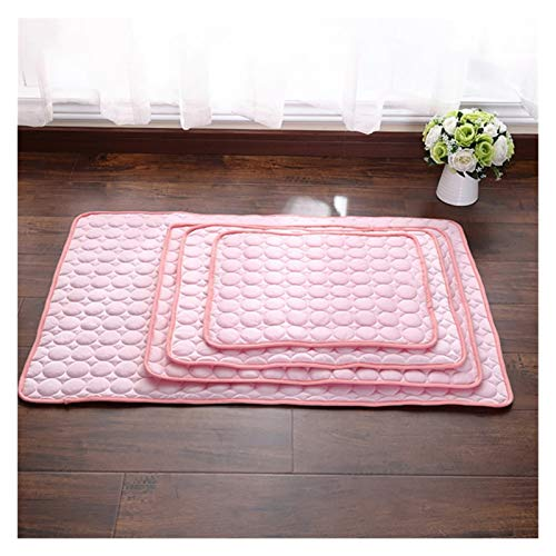 Yuchang LLPing - Alfombrilla transpirable para perro, gato, sofá, perro, cama, lavable, para perros pequeños, medianos y grandes, color rosa, tamaño: M 62 x 50 cm